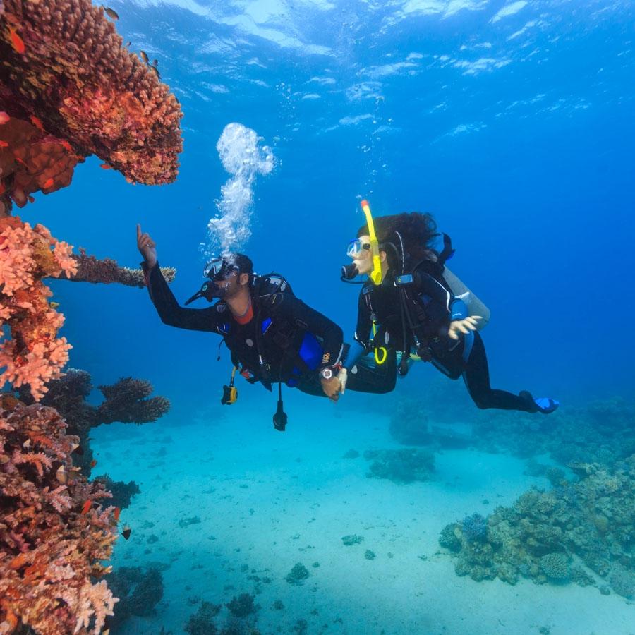 Snorkelling in Jolly Buoy /Red Skin Island