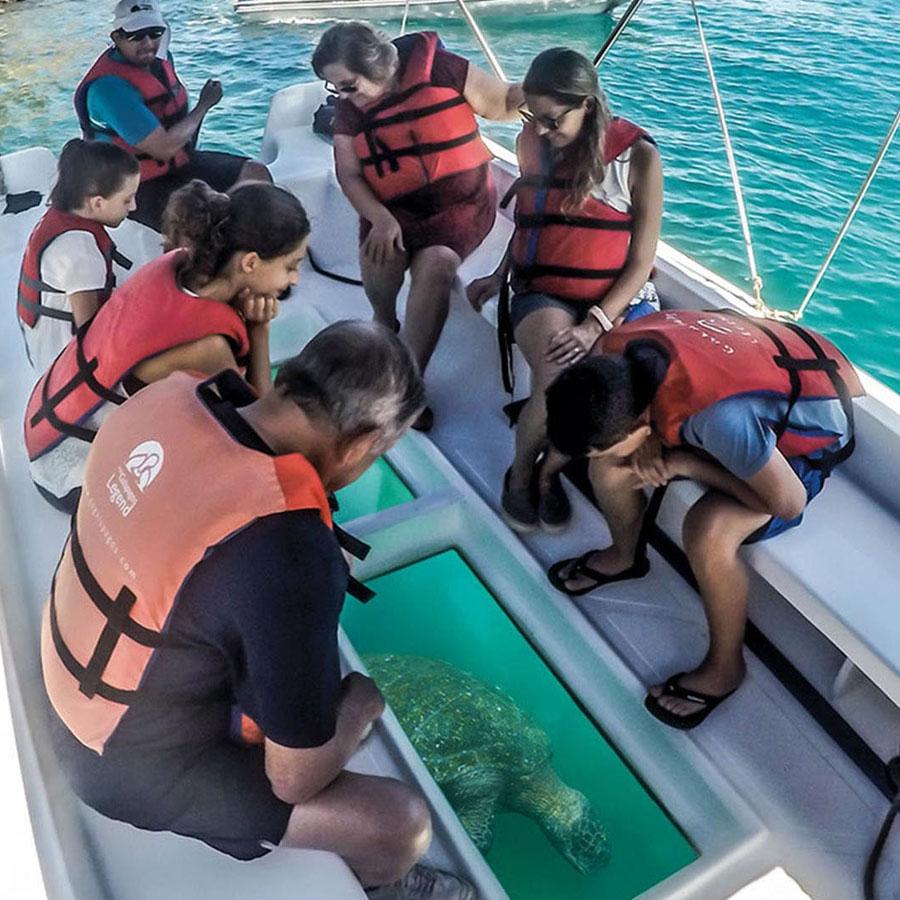 Glass Bottom Boat Ride in Havelock Island